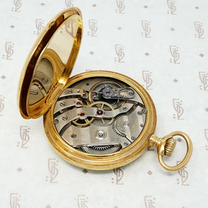 black starr and frost 18k gold pocket watch works