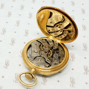 black starr and frost 18k gold pocket watch open back case