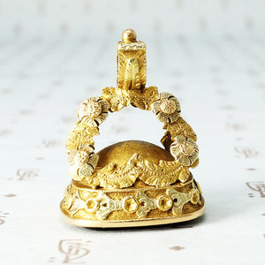 18k fancy bull fob seal