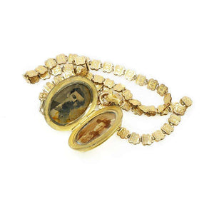 Victorian Book Chain with Cameo Locket