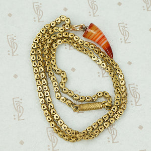 The Antique Box Chain Agate Claw Necklace
