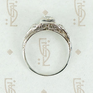 1920s Old European Diamond and Filigree Ring
