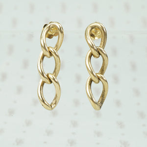 14k gold antique chain earrings