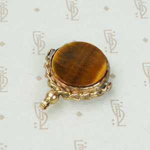 Classic English Chain Fob Bloodstone in Gold