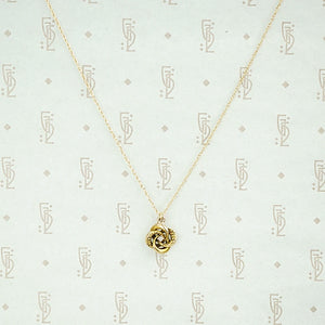 Antique Gold Love Knot Diamond Pendant