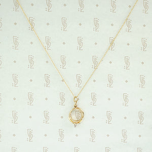 Miniature Wedding Set Gold Charm Necklace