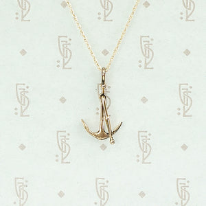 Lovely Gold Anchor Charm Necklace