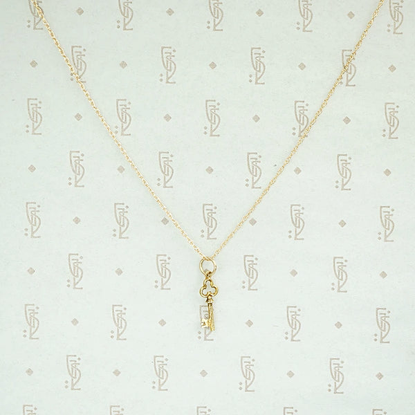 Sweet Little Vintage Key Charm Necklace