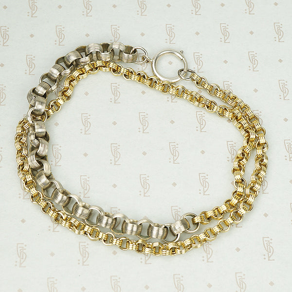 The Chunky Two Tone Rolo Necklace