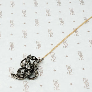 antique table cut diamond necklace