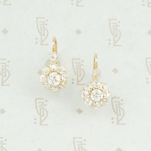 antique diamond earrings clusters