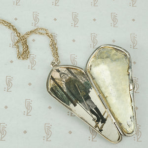 Vintage Sterling Silver Coffin Shaped Locket