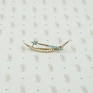 Delicate Victorian Shooting Star Brooch