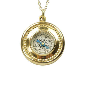 Vintage Gold Filled Compass Necklace