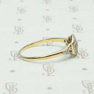 The Compass Rose Vintage Diamond Ring