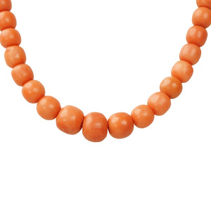 Lovely Strand of Natural Red Antique Coral Beads