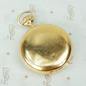 Crescent Moon and Star Gold Pendant Watch