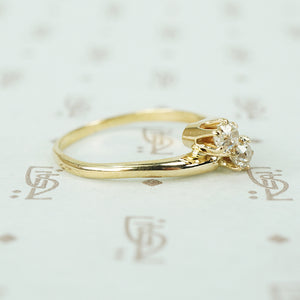 Antique Crossover Old Mine Cut Diamond Ring