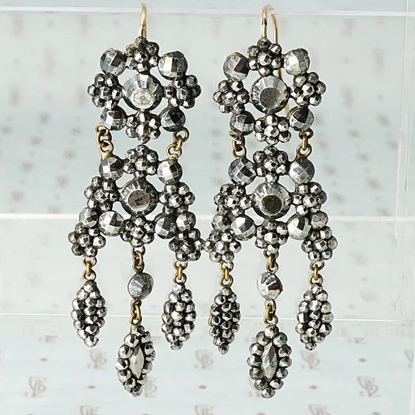 Outstanding Cut Steel Chandelier Earrings