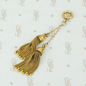 matched antique 15k gold tassels to hang from your chain