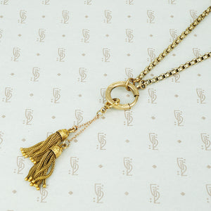 Antique Gold Tassels Drop Pendant