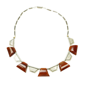 Stunning European Art Deco Galalaith Necklace