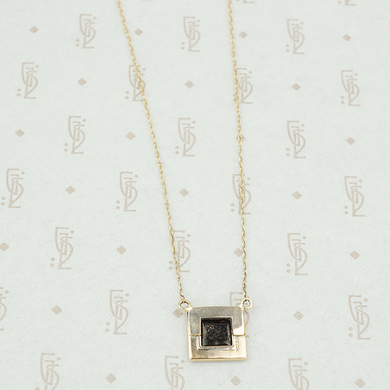 The Tiny Enameled Portrait Necklace with Rose Cut Diamonds