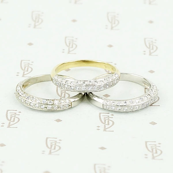 Deco Diamond Wedding Band by 720