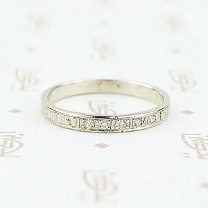 Diamond Forget Me Not Wedding Band