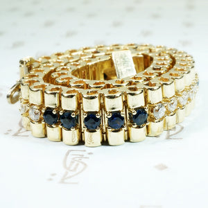 Timeless Gold Bracelet with Sapphires and Diamonds