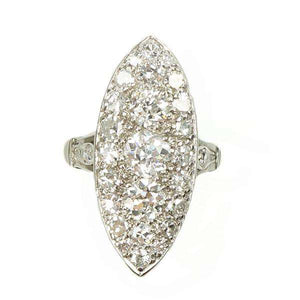 An Old European Cut Pavé Diamond Beauty