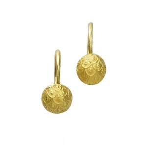 Gold Late Georgian Day and Night Earrings