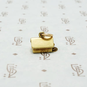 gold vintage dog house charm