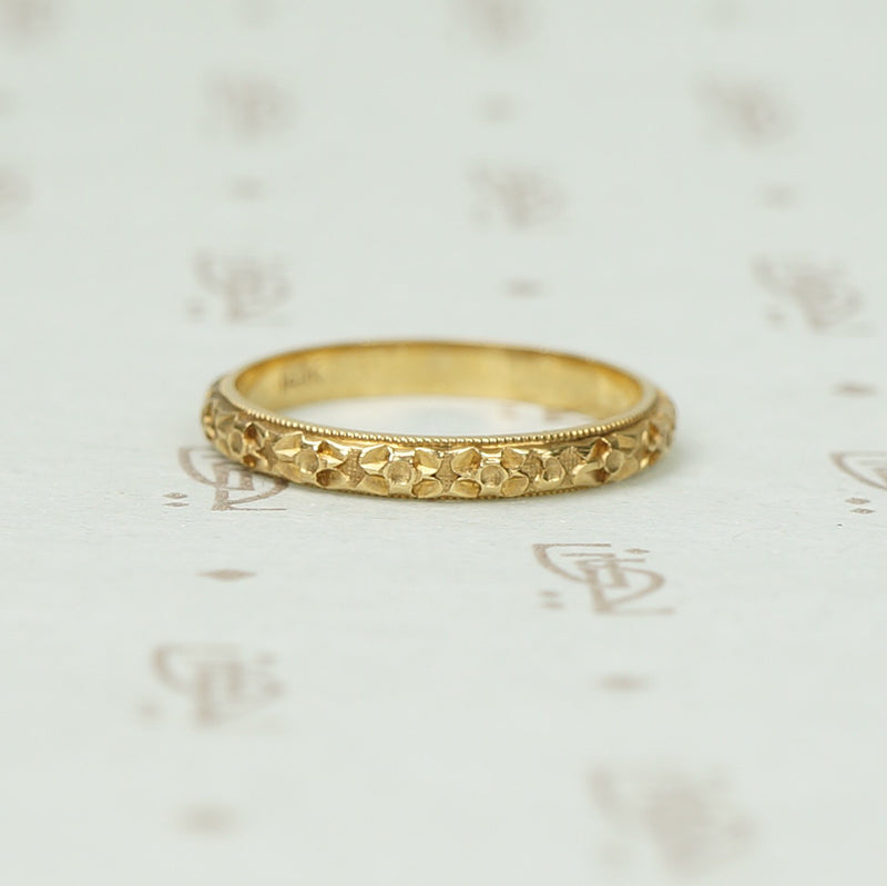 Perfect Vintage 14k Forget me Not Wedding Band 64cbe93610c