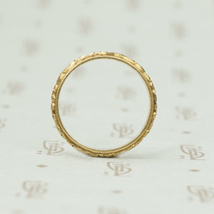 Perfect Vintage 14k Forget me Not Wedding Band