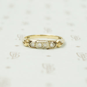 Detailed Vintage Diamond Band