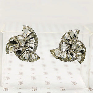 Sparkling Spiral Clip On Earrings by Eisenberg