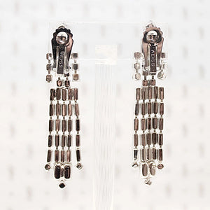 Incredible Cascading Rhinestone Earrings by Weiss