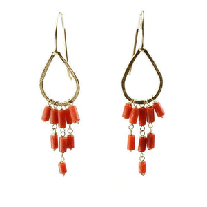 The Cairo Earrings by brunet in Coral