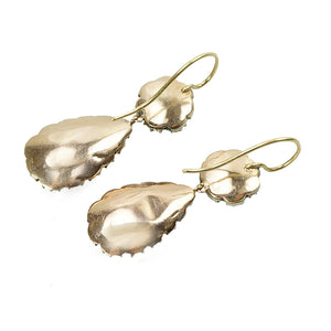 Everyday Elegance Antique Georgian Earrings - Gem Set Love