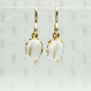 moonstone and gold drop earrings