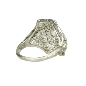 Edwardian Beauty Pavé Diamond and Platinum Ring - Gem Set Love