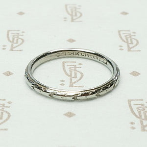 Cinderella Soft Floral Band in White Gold
