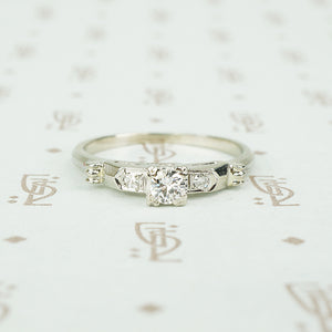 .22ct diamond engagement ring in 14k white gold