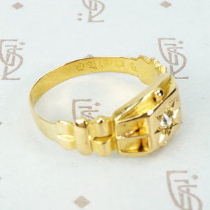 English Star Set Diamond Band