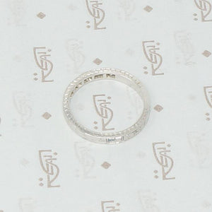 1920's white gold engraved diamond band side