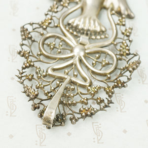 French Hallmarked Silver Large St. Esprit Pendant