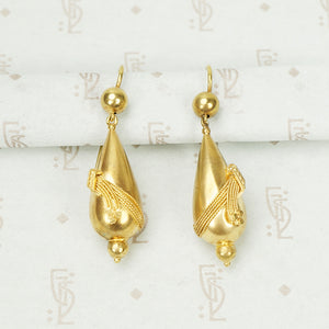 Antique Golden Drop Earrings