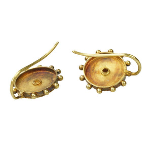 Etruscan Revival 22k Gold Earrings