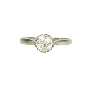 Fancy Vintage Solitaire Engagement Ring